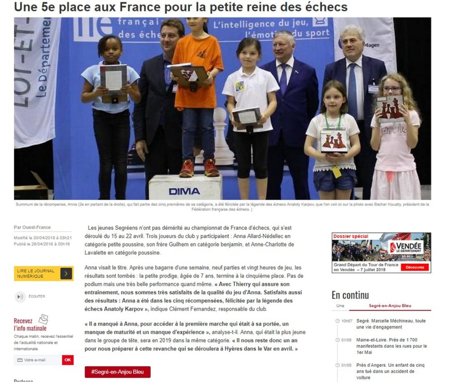 Article championnat de France